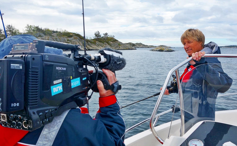 mange som har lagt merke til at Lillesands fantastiske fiske, her med opptak for NRK