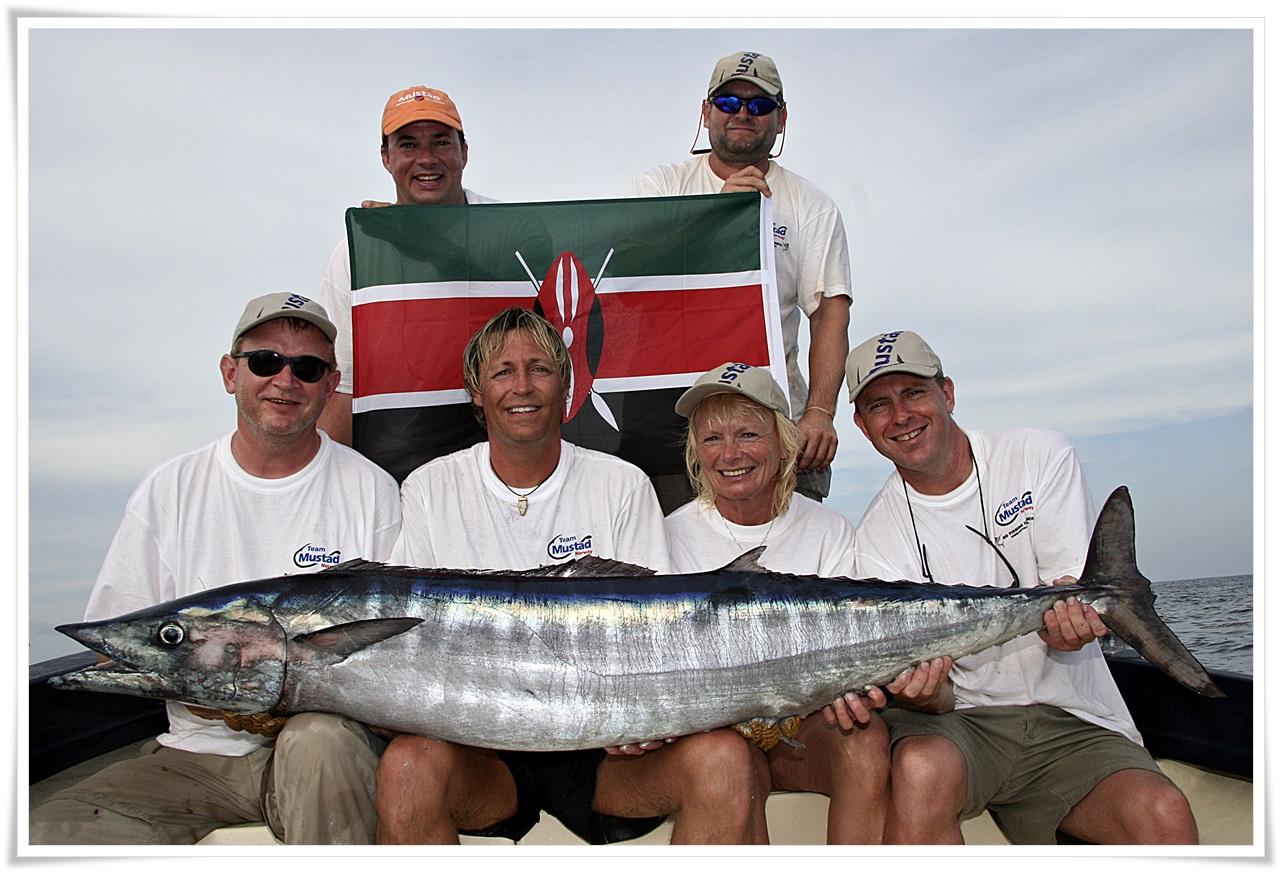 Team Mustad Norway på tur igjen, dette bildet er i fra Kenya