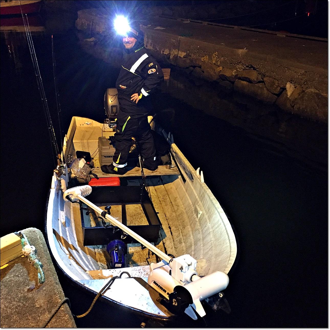 den lille båten med i-pilot er fin å dra med seg rundt