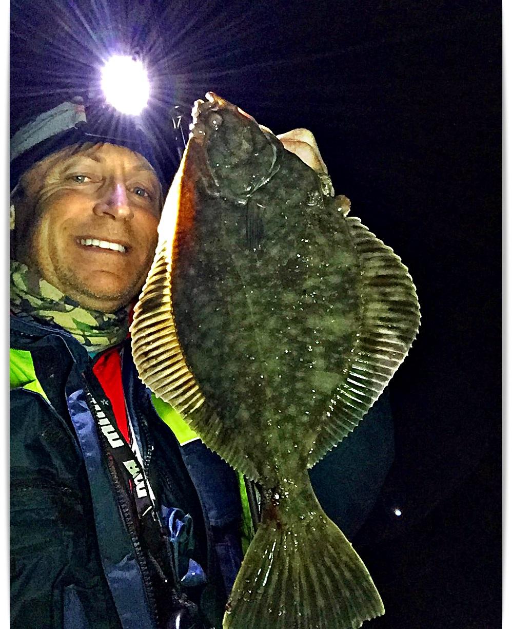 mye annen flatfisk å se, her en skrubbe