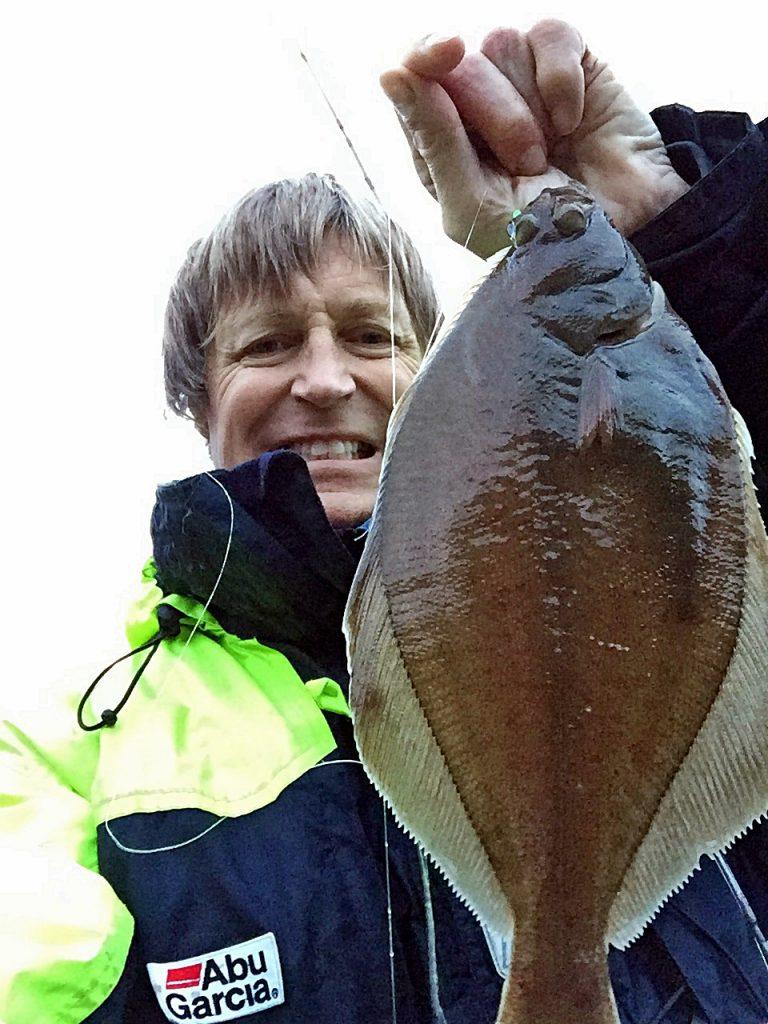 mye flatfisk på området som tok agnet