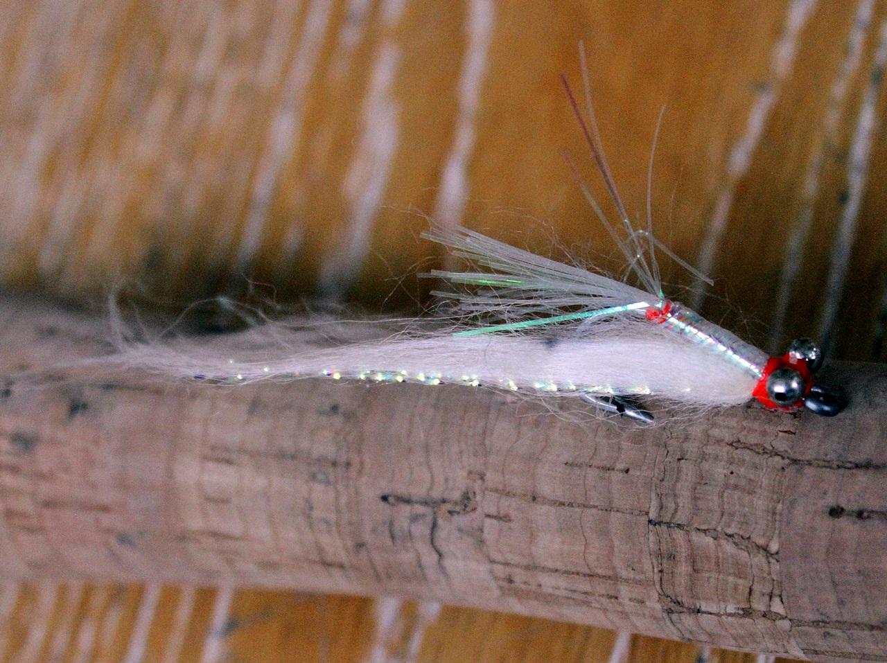 En reke/liten fiske imitasjon fungerer suverent på bonen
