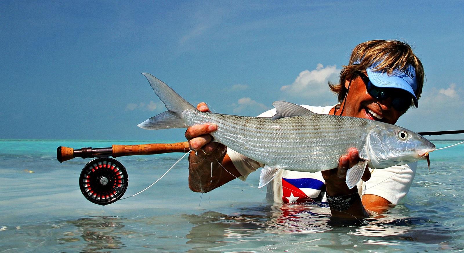 du kan vade eller fiske i fra båt