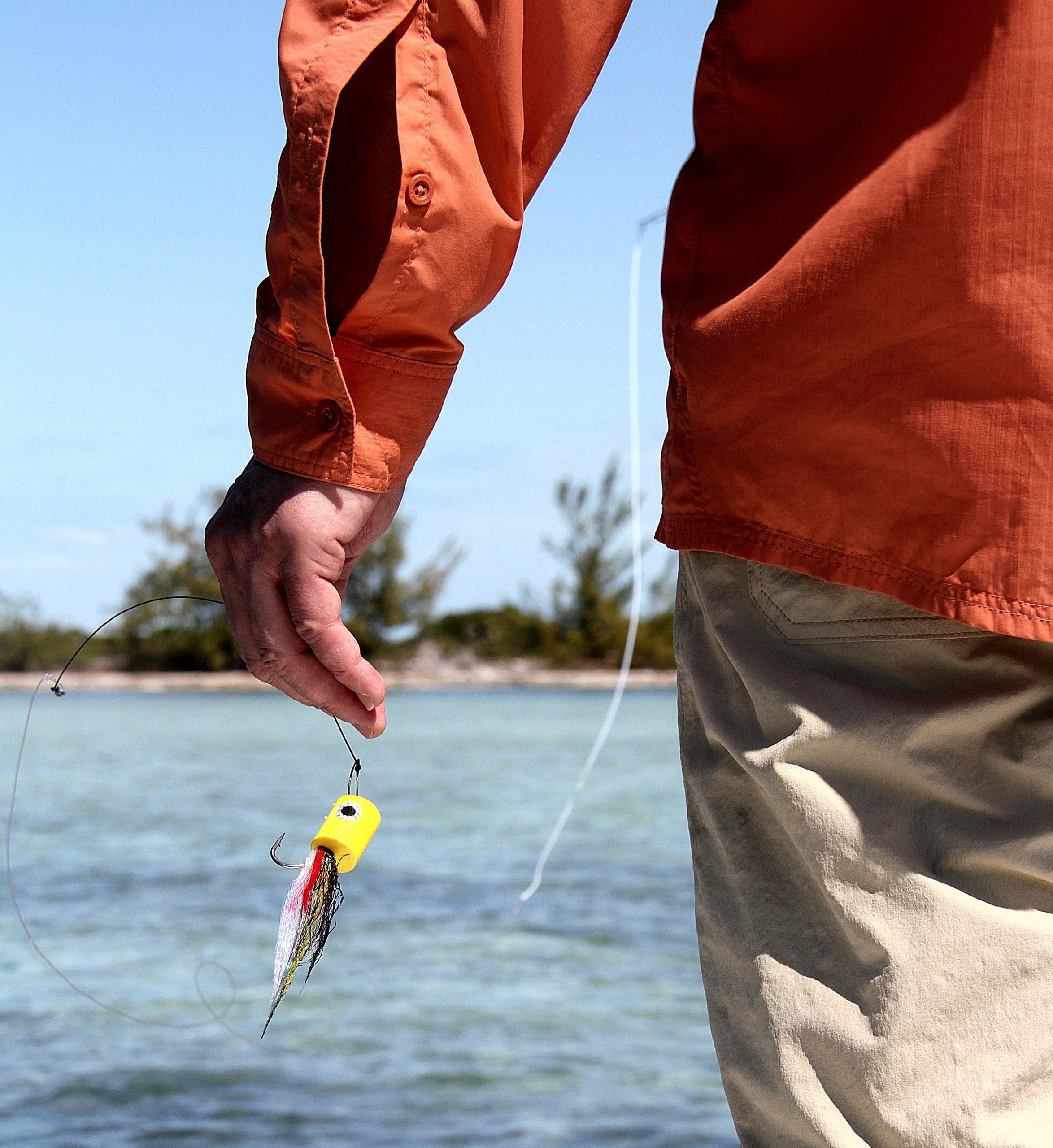 Poppere eller digre saltvannsfluer duger godt