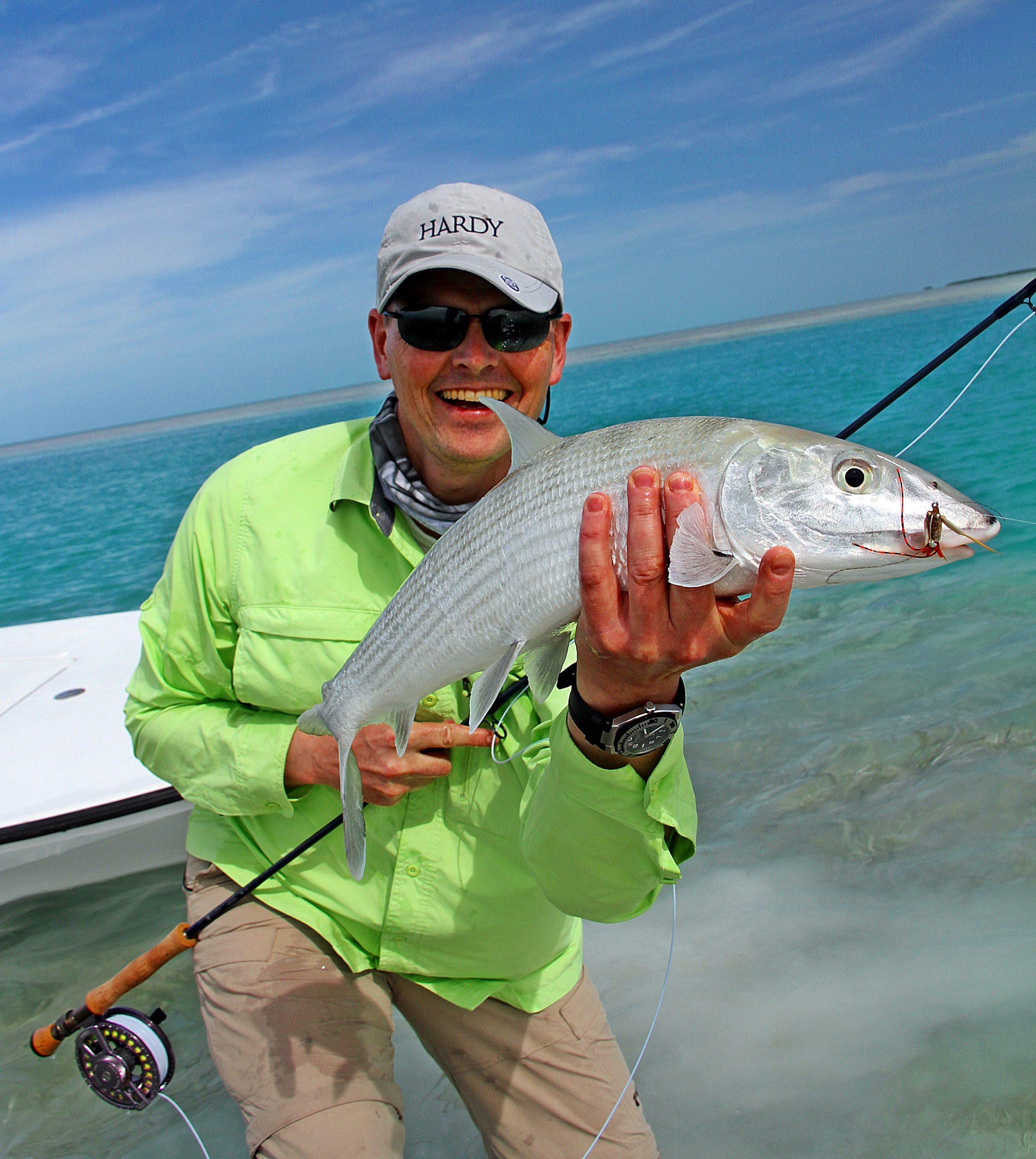 vi fisket vadene eller i fra båt, pene bonefish var det uansett