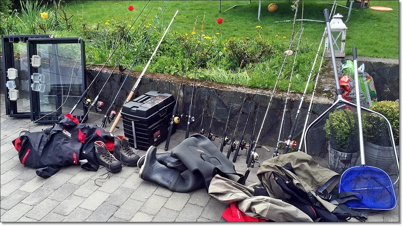 Mye utstyr som skal klargjøres før innspilling