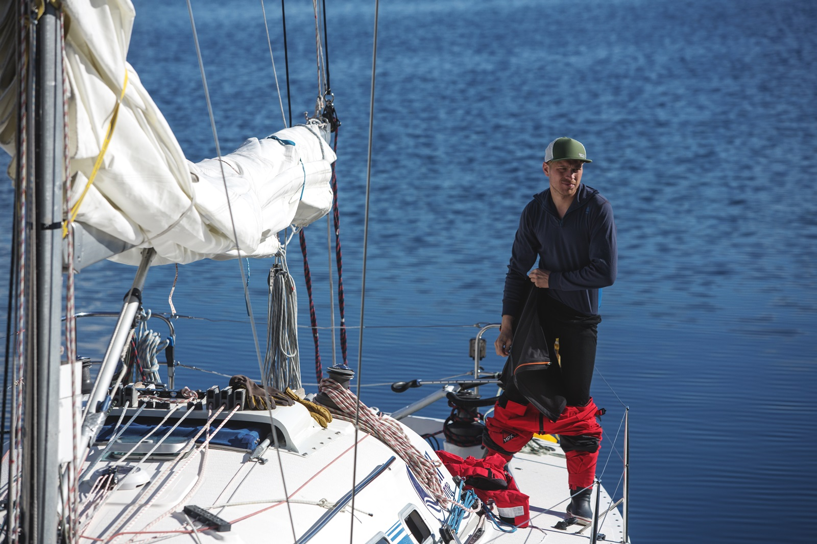 Zipshorts padded - sailing