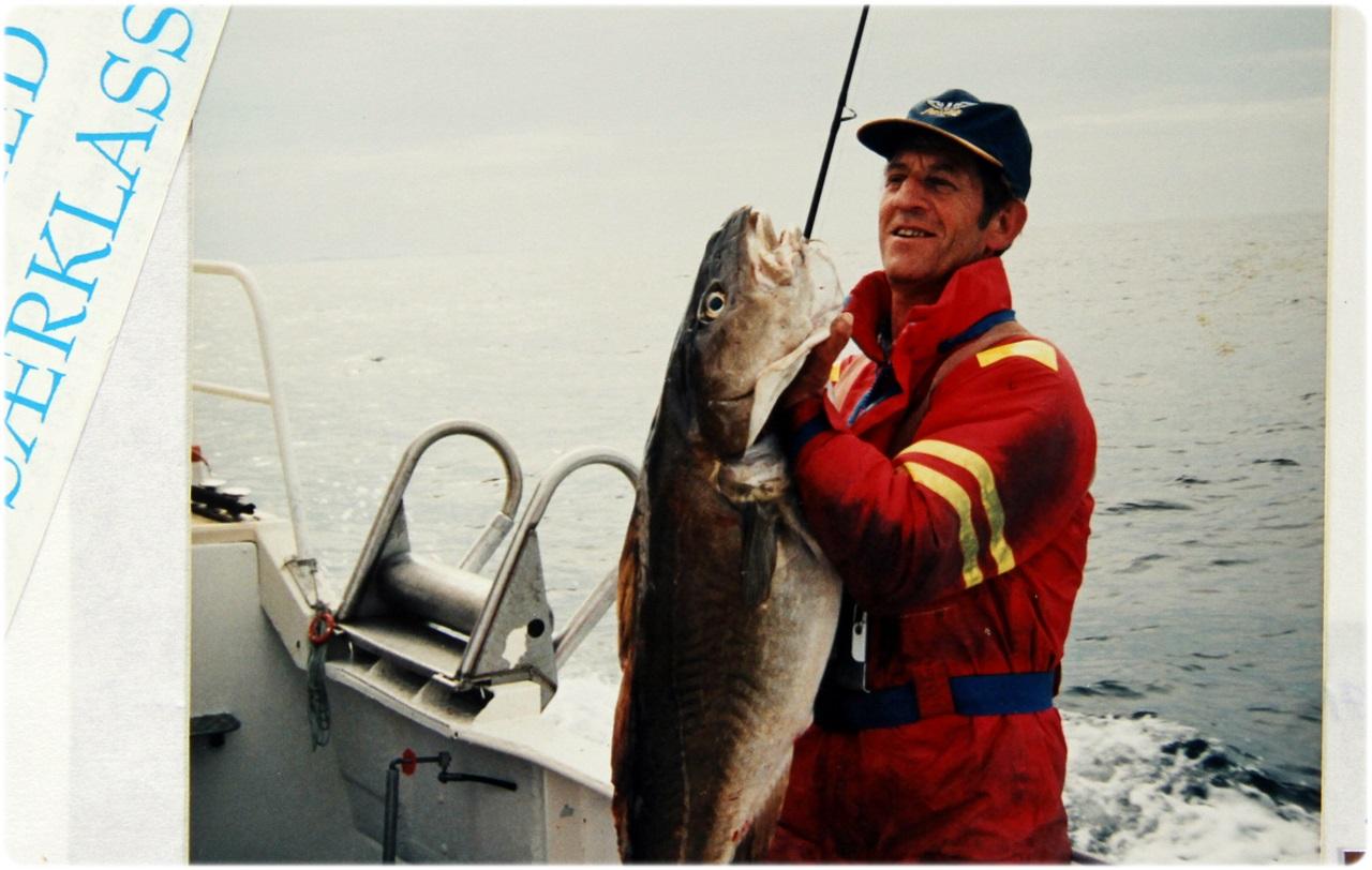 Asbjørn Stølefjell med en av mange flotte fangster