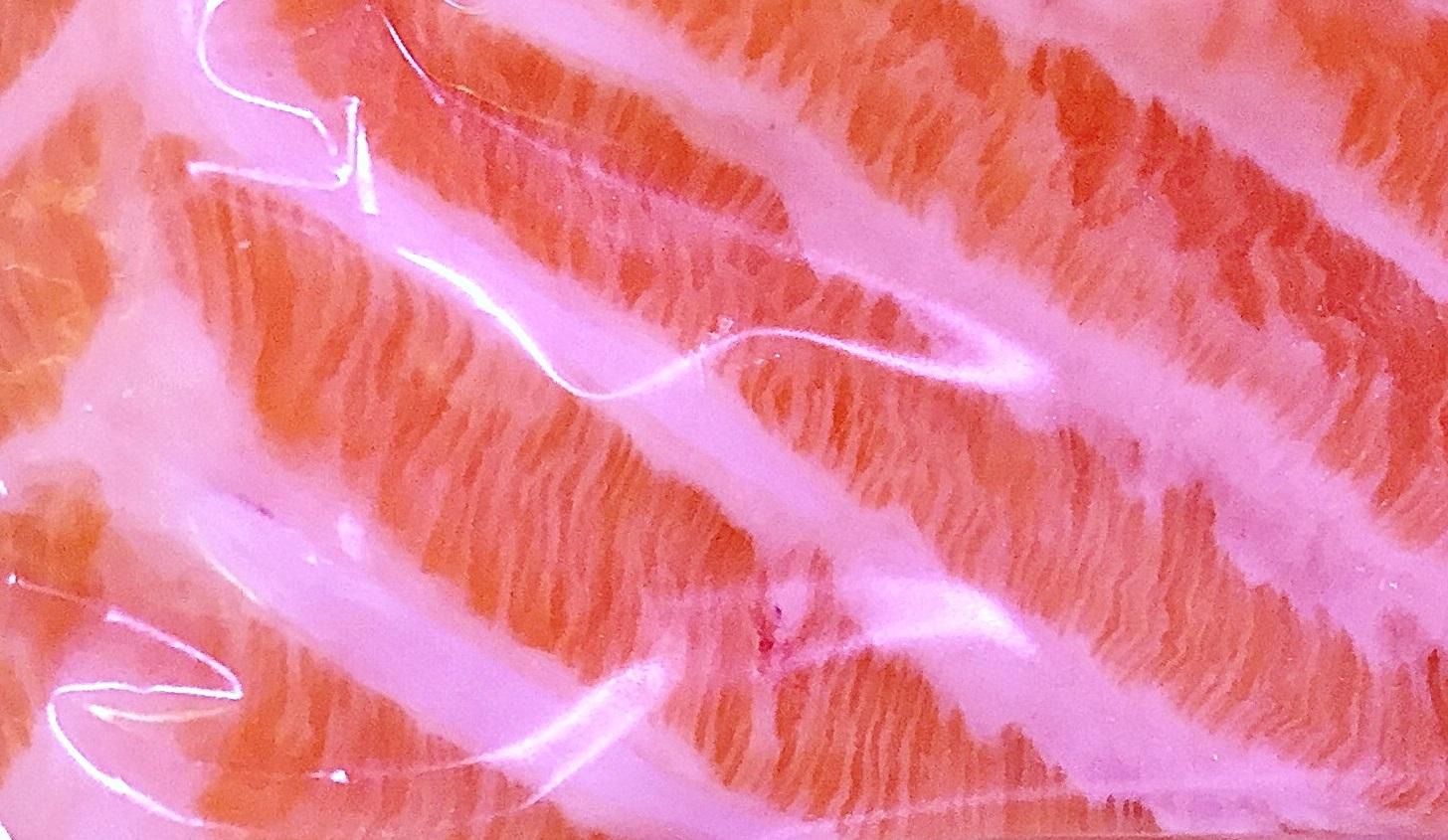 Et bilde fra en standard oppdrettsørret fra fiskedisken på Meny