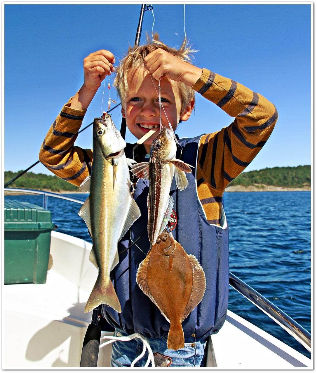 lett å fange mange arter i fra båt