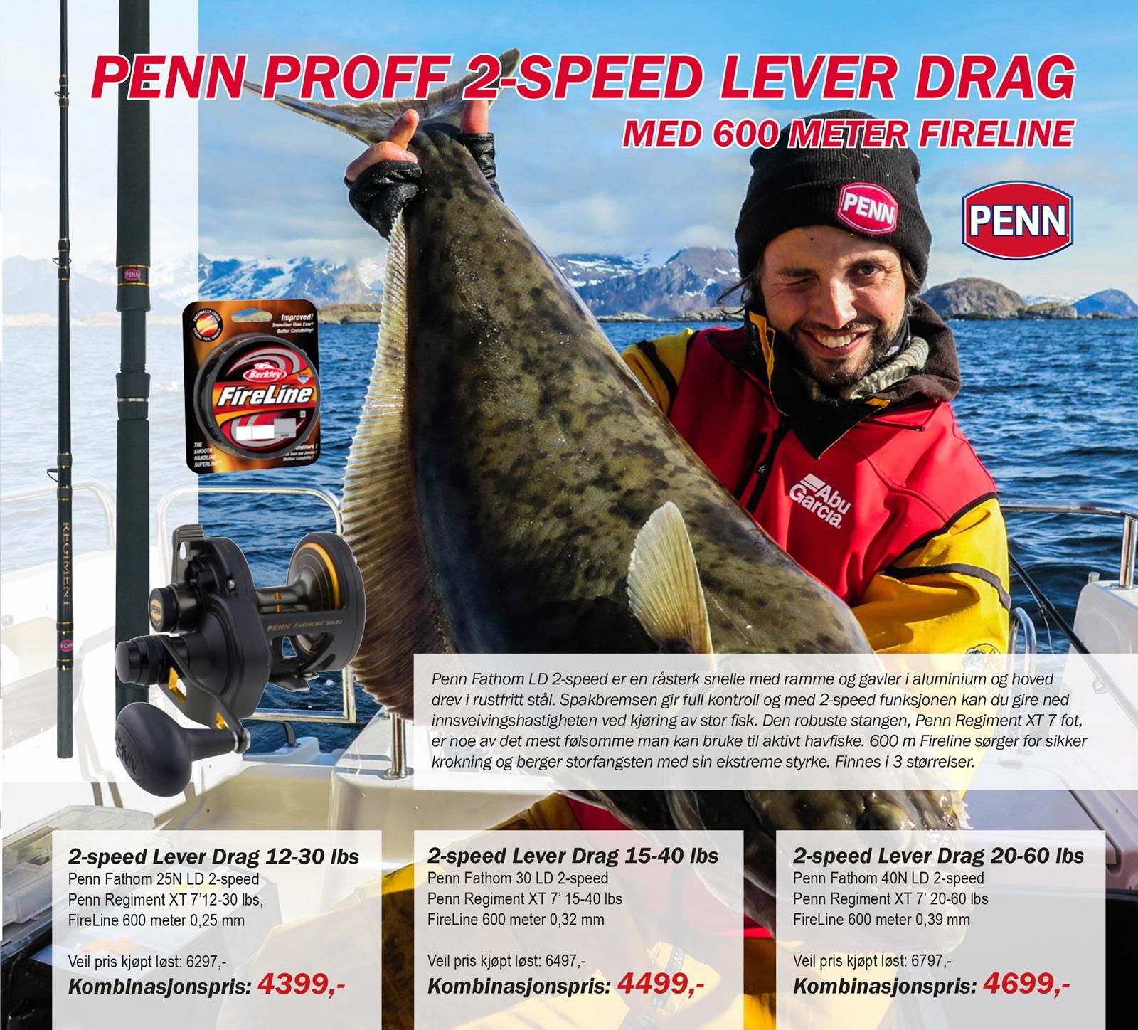 Penn proff 2-speed
