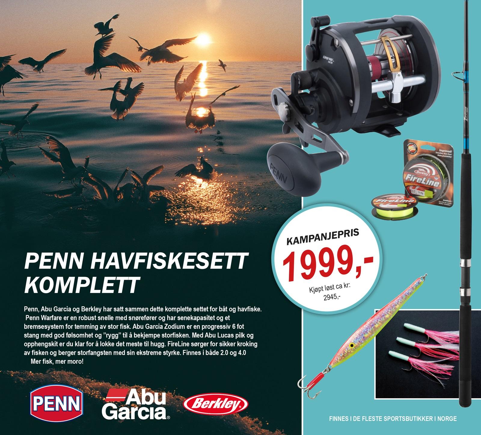 Penn havfiskesett komplett