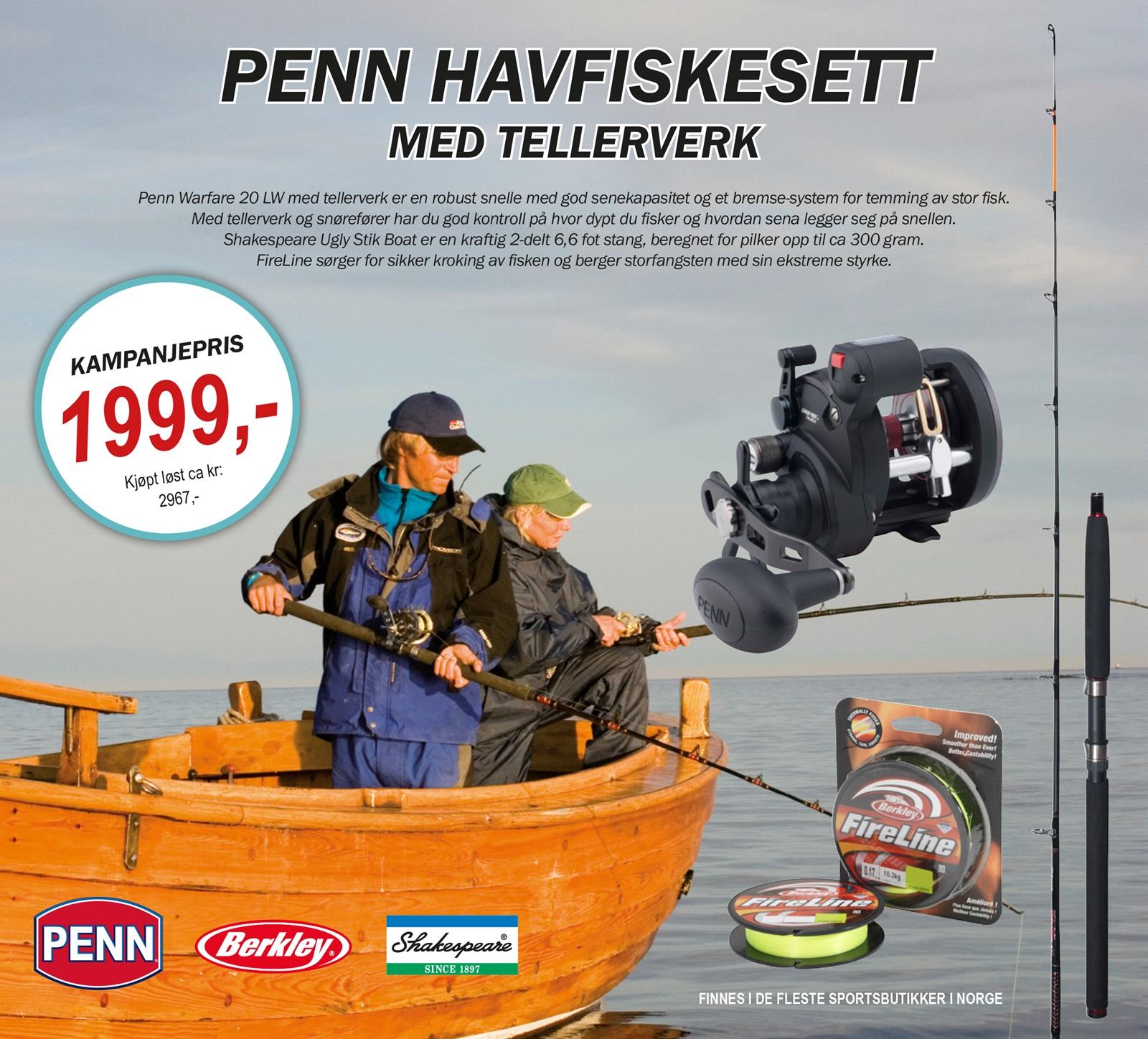 Penn havfiskesett tellerverk