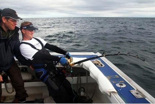 Norske sportsfiskere kjemper BFT i Canada (foto: Thor Olav Moen)