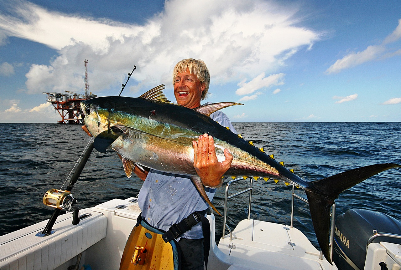 Her undertegnede med en YFT (gulfinned tunfisk) fisket utenfor USA (Mexico Gulfen)