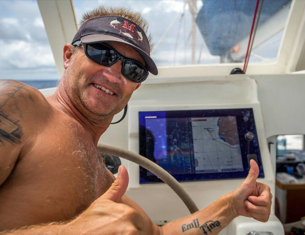 Morten Ruud ombord på Offshore Hunter