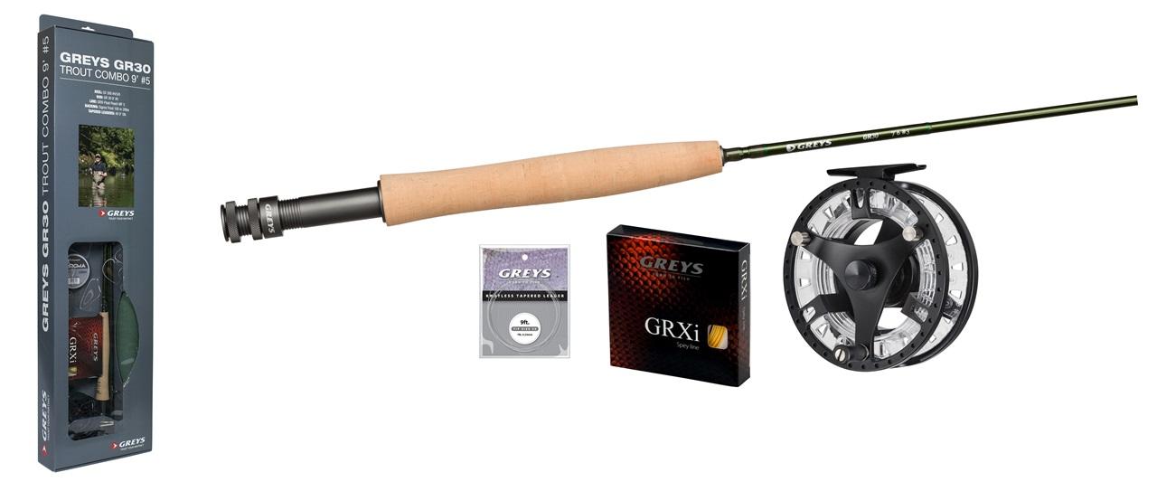 1395357 Greys komplett fluefiskesett for ørret og innladsfiske # 5 Juletilbud 1999,-