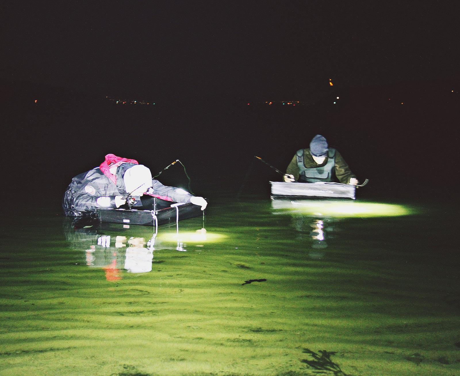 Det var nok en del som fikk litt lite søvn, men mange nye opplevelser med nattfiske