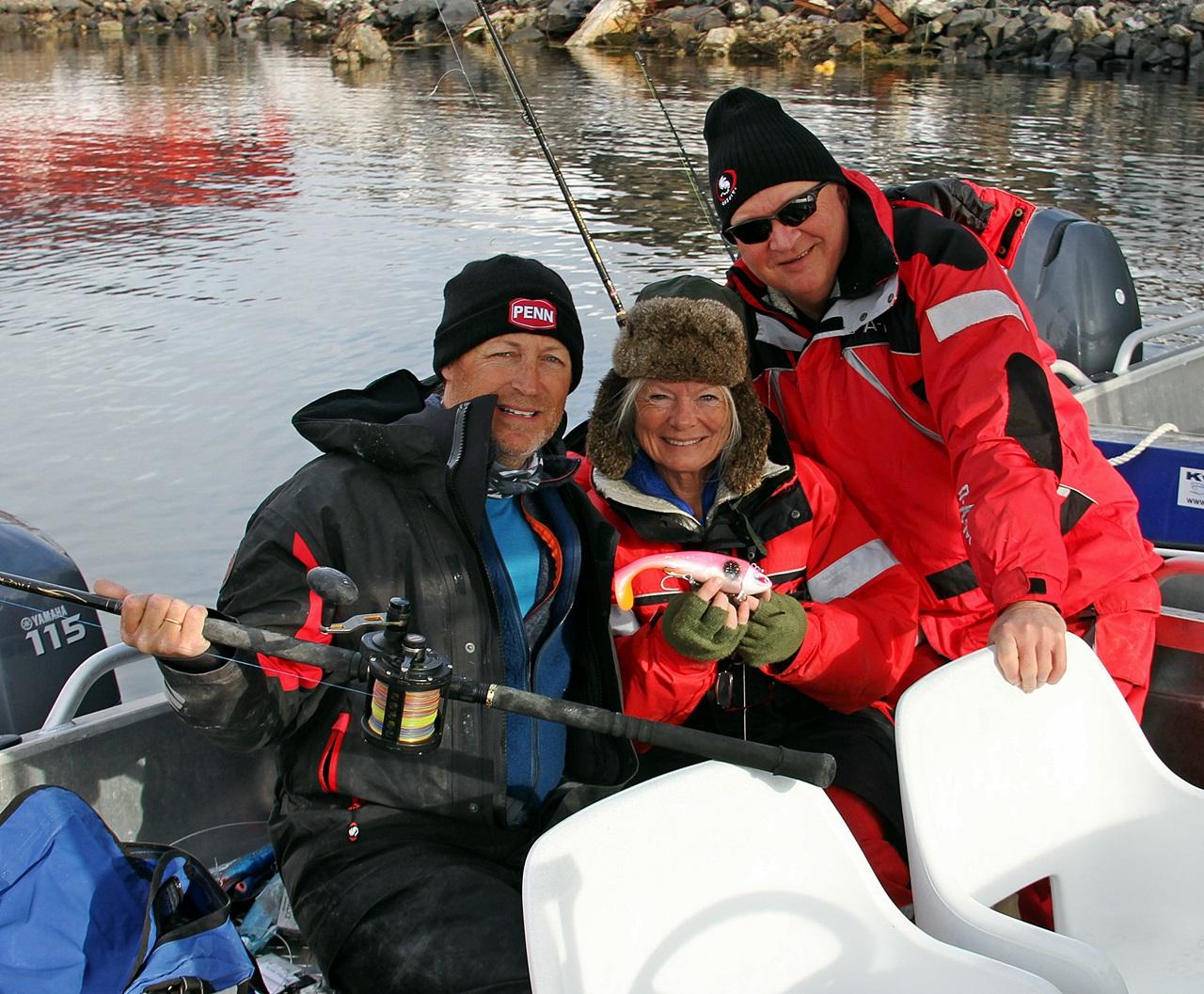 Ikke vanskelig å smile når vi skal ut å fiske i et slikt område