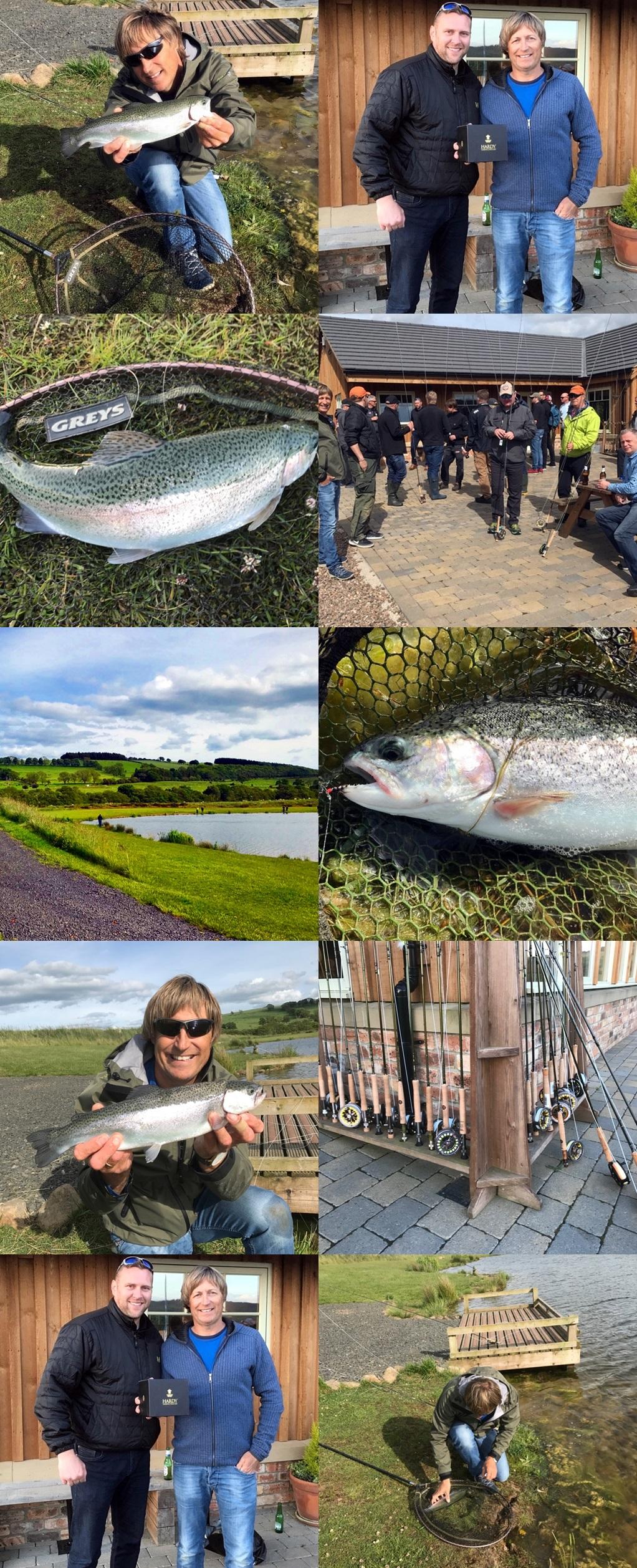Artig når fiske er årets aktivitet under konferansen, og selvfølgelig ekstra gøy når enn drar i land seieren