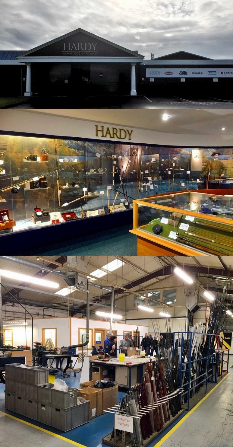 Hardy Fabrikken inneholder produksjonslokaler, kontorer, showrom, museum, kastedam og butikk