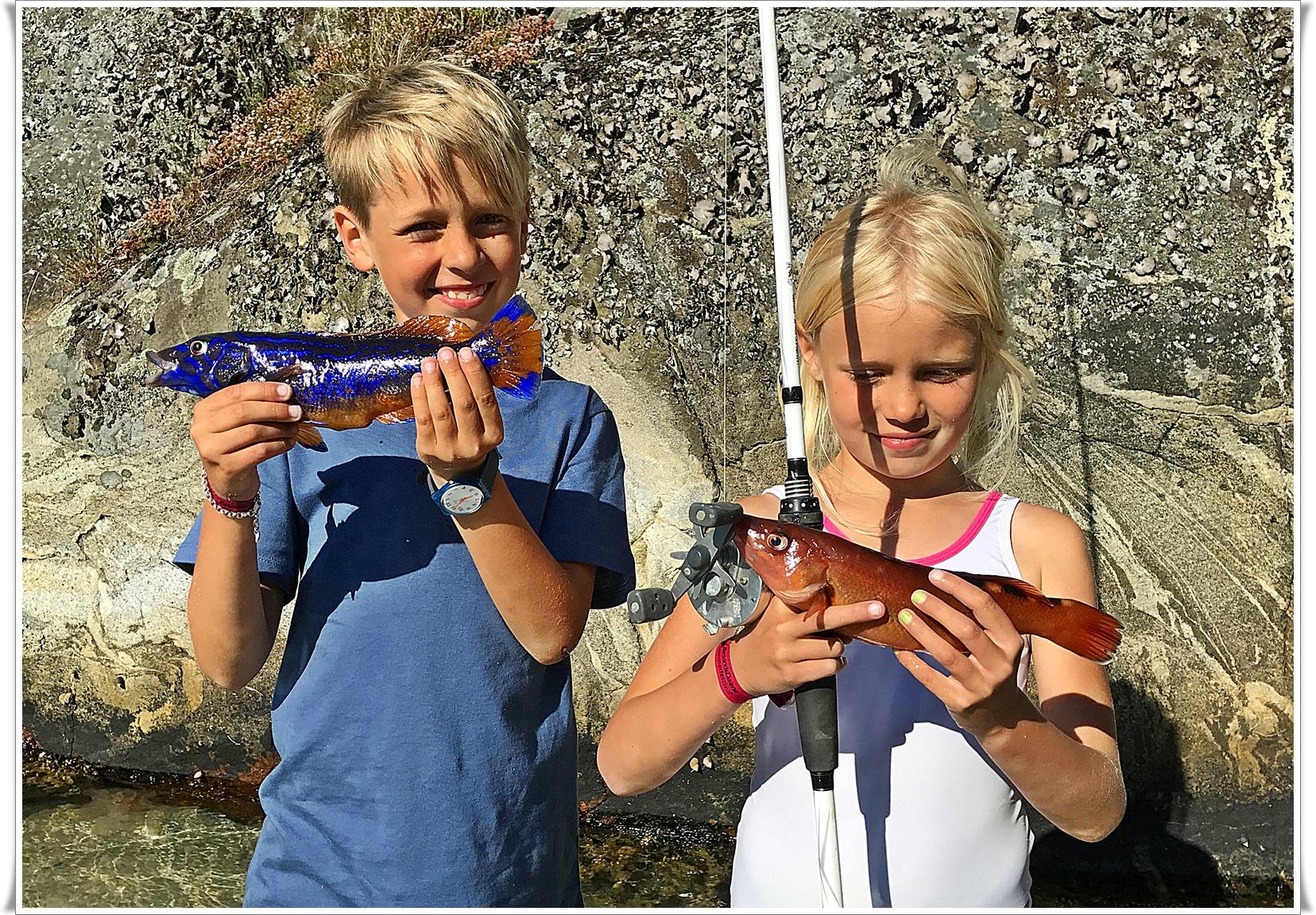 En gutt og en jentefisk