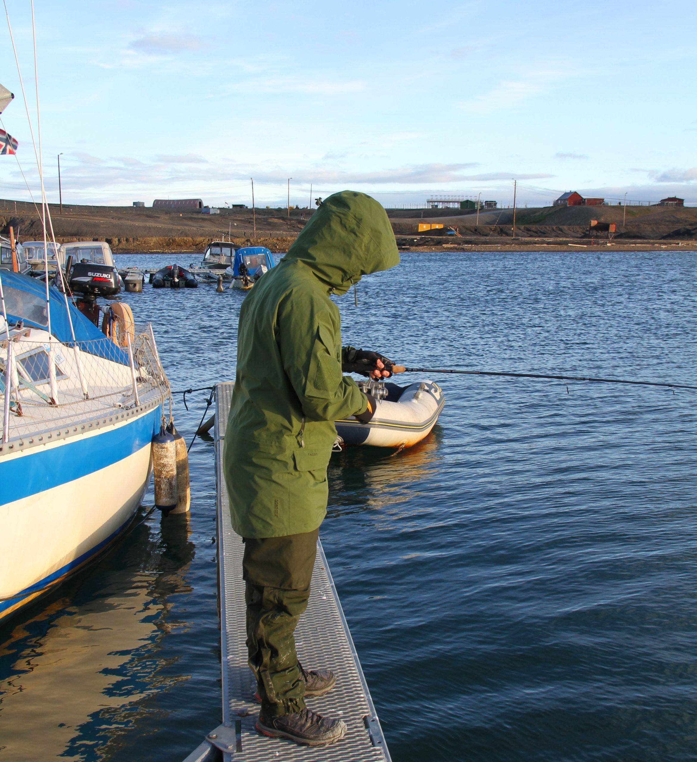 småbåthavnen var fint for bryggefiske etter ulker