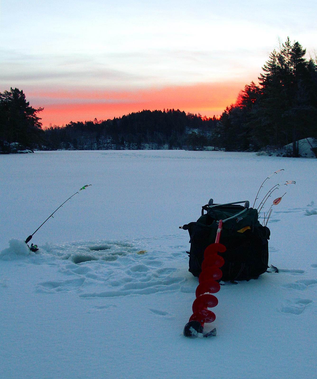 soloppgang på isen