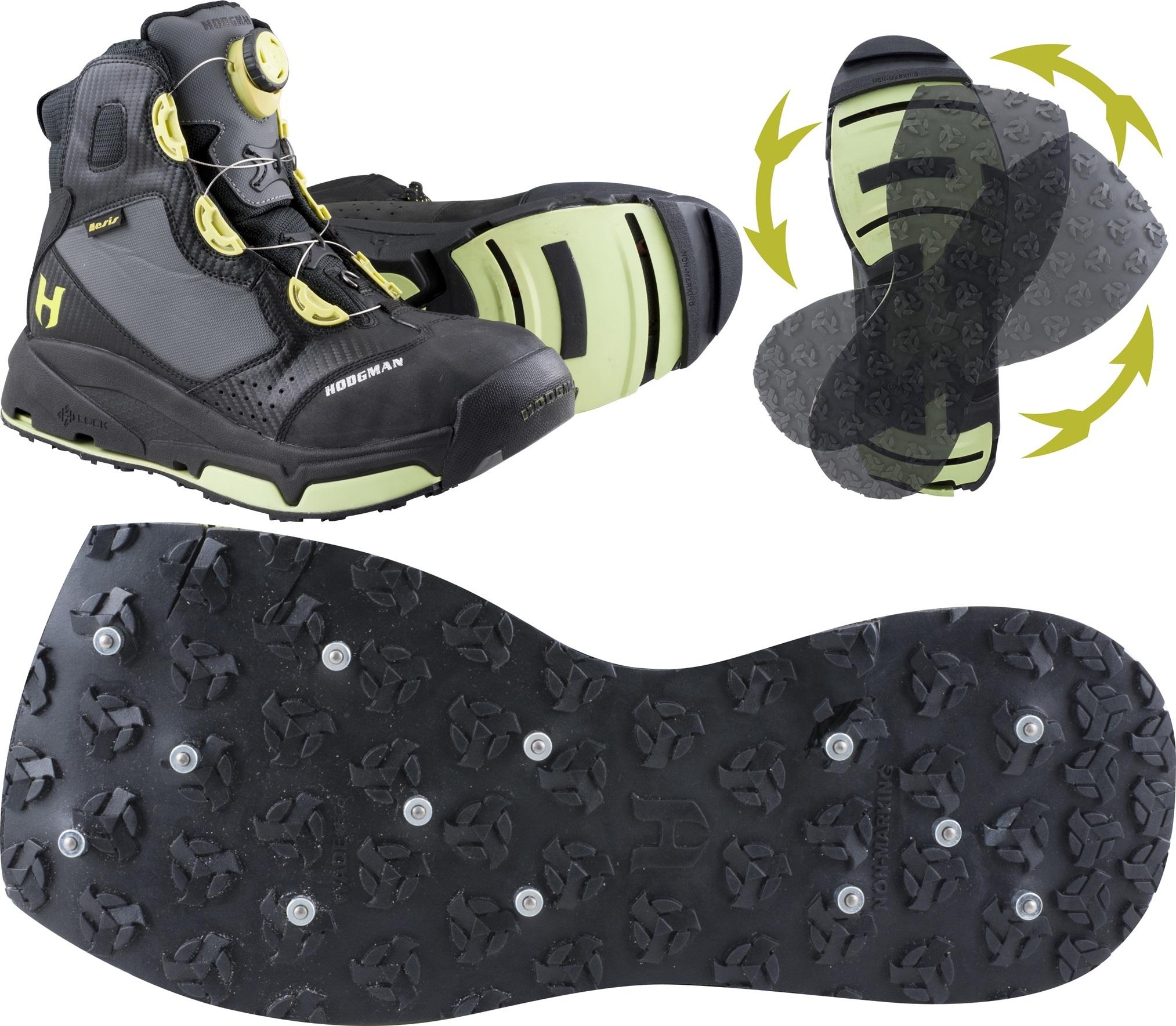 og de prisvinnende hodgman sko med utskiftbar såle, gummi med studs er favoritten på svabergene