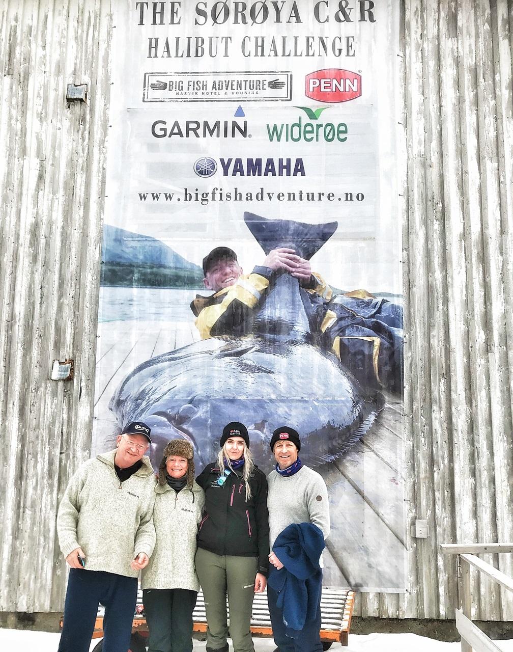 sportsfiskehilsen fra Geir, Torunn, Jeanett og Asgeir