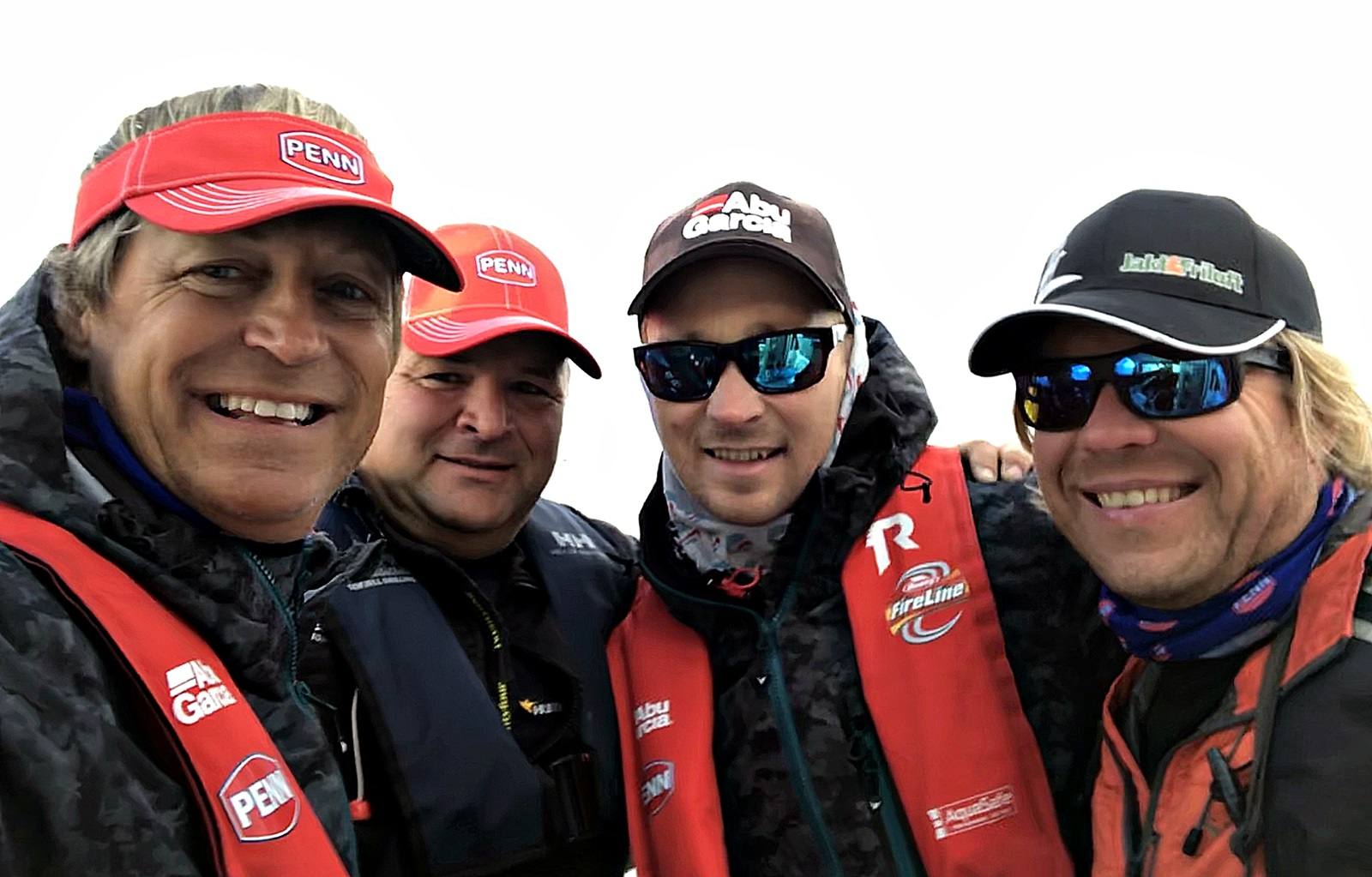 Team Abu Garcia TecnoTroll fra v: Asgeir Alvestad, Nils Andre Eigeland, Irvin Kilde og Harald Nyland